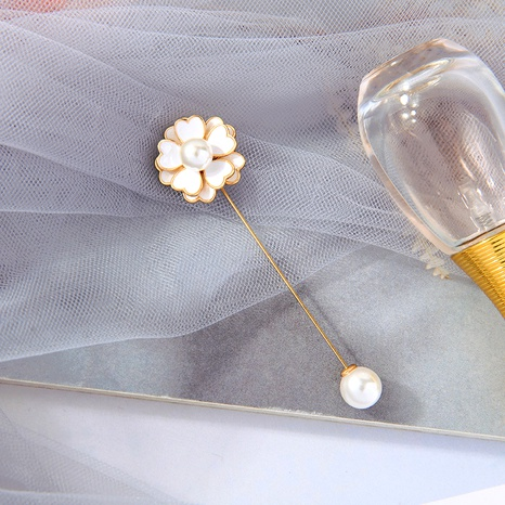 cute retro flower pearl brooch NHQD287994's discount tags
