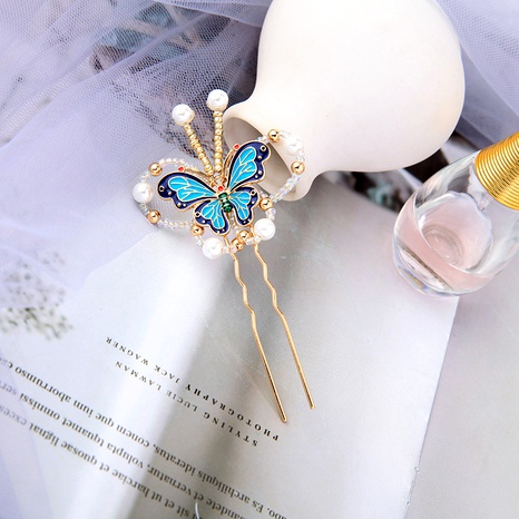Retro Butterfly Hairpin NHQD288012's discount tags