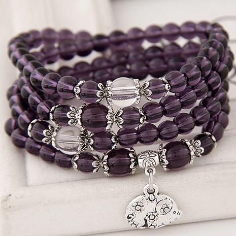 Korean trendy fashion zodiac purple beautiful bracelet  NHSC289396's discount tags