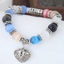fashion sweet OL metal opal wild peach heart  bracelet NHSC289394