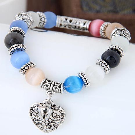 fashion sweet OL metal opal wild  peach heart bracelet NHSC289395's discount tags