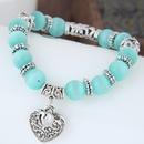 fashion sweet OL metal opal wild  peach heart bracelet NHSC289395