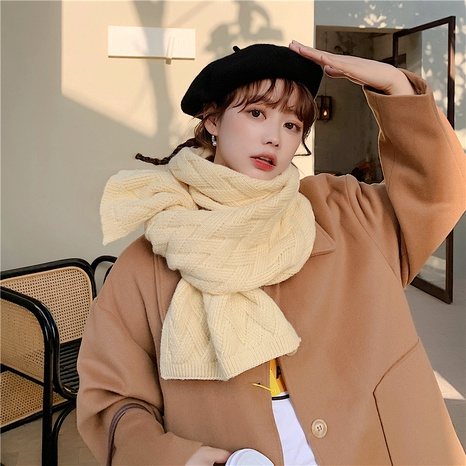 dual-use double-sided large shawl thickened warm plaid knitted scarf  NHCM288200's discount tags