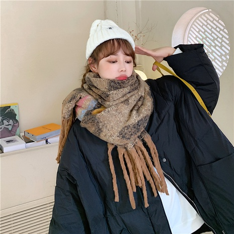 Korean  cute all-match long shawl thick scarf NHCM288211's discount tags