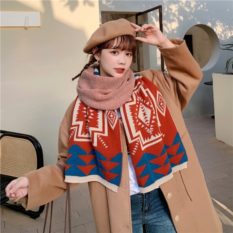 Bufanda de lana de estilo étnico engrosado salvaje coreano NHCM288213's discount tags