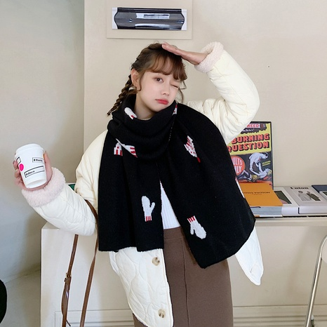 Winter wool knitted scarf  NHCM288219's discount tags