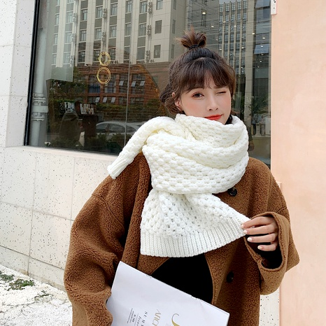 Coarse wool knitted scarf  NHCM288224's discount tags