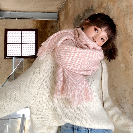 Simple fashionable imitation cashmere knitting scarf NHCM288226's discount tags
