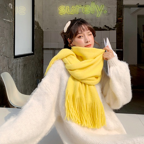 knitting wool cute scarf NHCM288225's discount tags