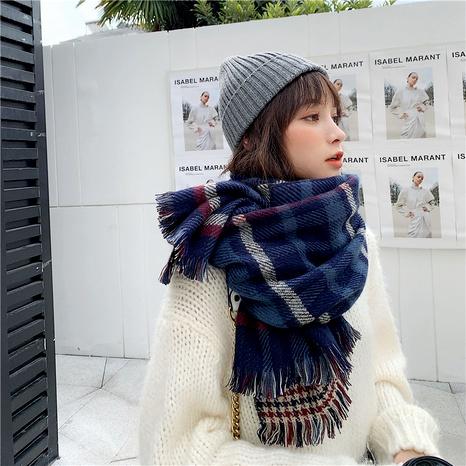 Bufanda de moda coreana larga de doble cara NHCM288249's discount tags