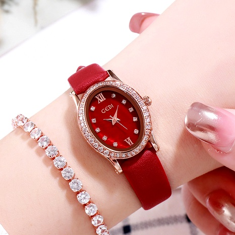 fashion diamond  quartz waterproof ladies watch NHSR288257's discount tags