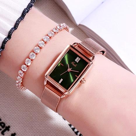 nouvelle montre à bracelet en maille pour dames carrées de mode coréenne NHSR288262's discount tags