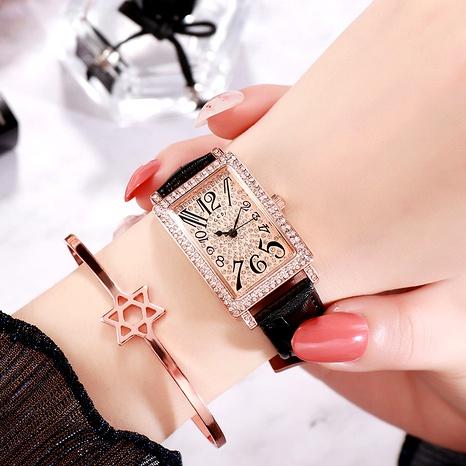 diamond belt square trendy watch  NHSR288278's discount tags