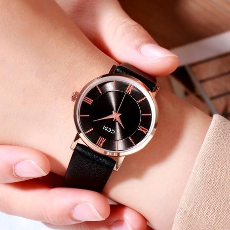 Reloj de mujer casual a escala romana simple de moda NHSR288279's discount tags