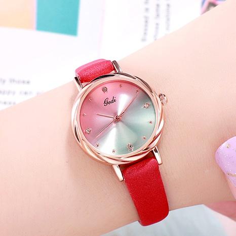 Korean fashion trendy gradient dial waterproof belt  watch  NHSR288290's discount tags