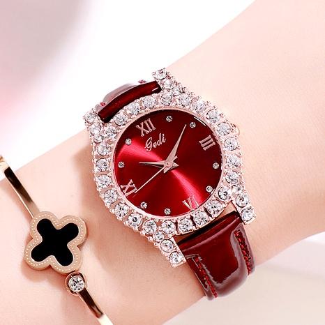 fashion  diamond casual all-match quartz ladies watch NHSR288291's discount tags