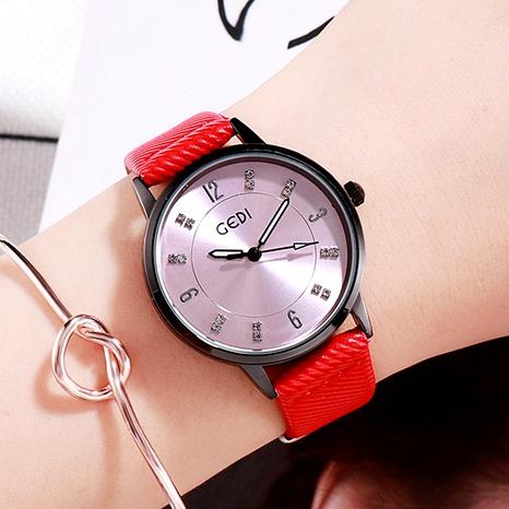 nuevo negocio redondo de cuarzo moda cinturón impermeable reloj de señoras NHSR288293's discount tags