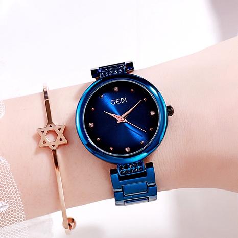 Nuevo reloj de banda de acero para mujer con diamantes de punta simple NHSR288298's discount tags