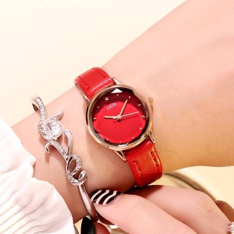 Reloj casual de moda con cinturón de cuero retro NHSR288300's discount tags