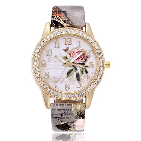 printed belt diamonds casual watch  NHSS288304's discount tags