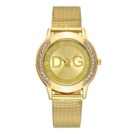 fashion inlaid diamond mesh belt watch  NHSS288305's discount tags