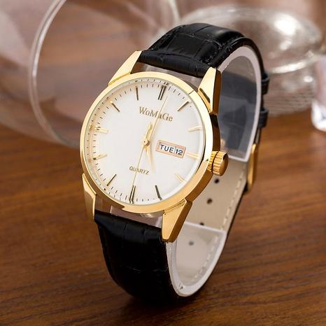 Reloj de negocios de correa de PU simple de moda NHSS288309's discount tags