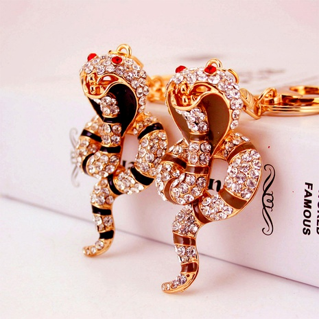 Alloy  Metal Pendant Animal Zodiac Snake Key Chain  NHAK288323's discount tags
