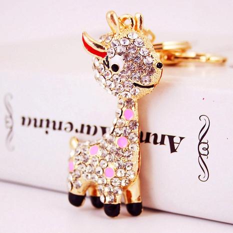 Alloy Rhinestone Deer  Keychain NHAK288324's discount tags