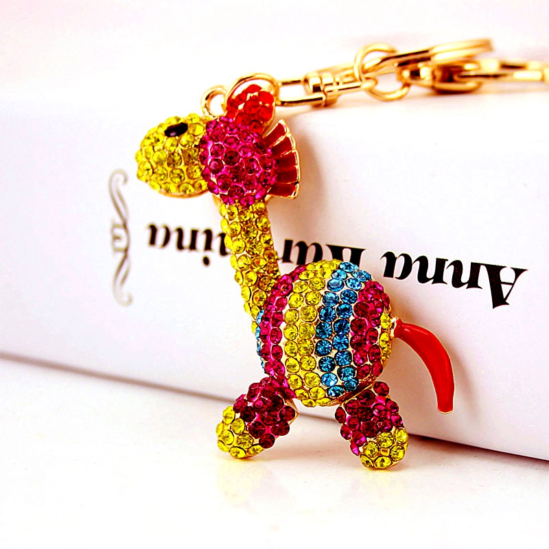 Alloy Color Striped Pony Key Chain  NHAK288325