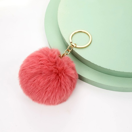 Rex rabbit fur ball keychain NHAP288411's discount tags