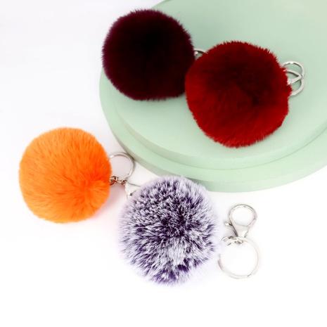 multi-color soft artificial rabbit fur hair ball keychain NHAP288410's discount tags