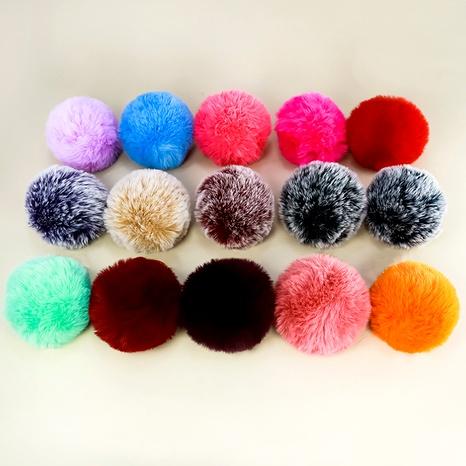 multi-color soft artificial rabbit fur hair ball keychain NHAP288412's discount tags