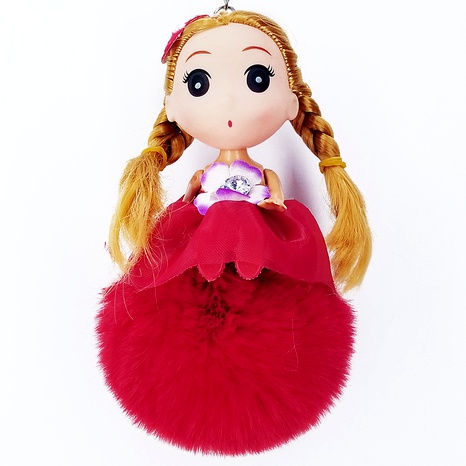 Confused doll doll fur ball keychain pendant  NHAP288416's discount tags