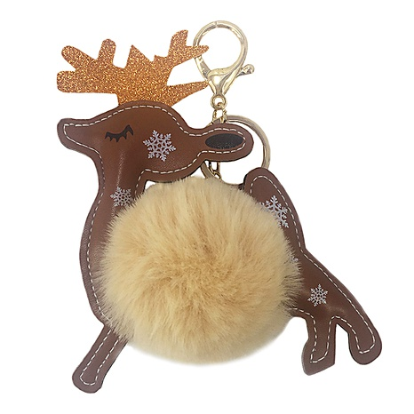 New PU Fawn Animal Fur Ball Keychain Pendant NHAP288418's discount tags