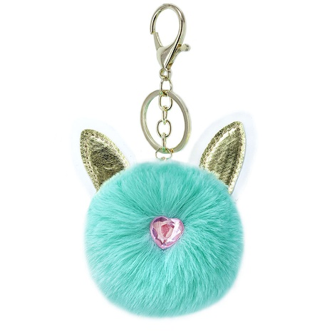 Creative PU Rabbit Ear Hair Ball Keychain  NHAP288421's discount tags