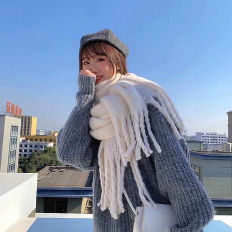 Korean  new  super thick and plaid thick braids tassel shawl dual-use wild  scarf  NHCJ288440's discount tags