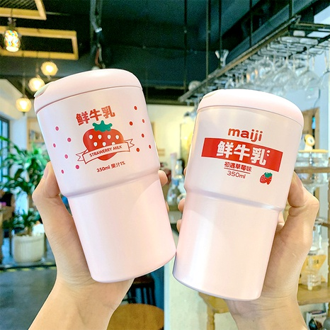 Cartoon simple strawberry cute casual water cup NHtn288472's discount tags