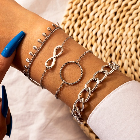 exaggerated alloy thick fashion style drop pendant alloy bracelet  NHGY289559's discount tags