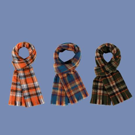 Korean color plaid scarf  NHTQ288054's discount tags
