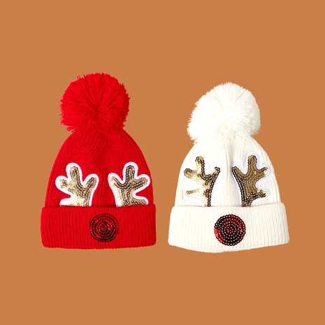 Children's Christmas deer knit hat NHTQ288061's discount tags