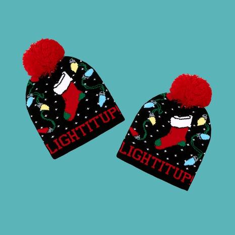 Gorro de punto de bola de lana navideña NHTQ288064's discount tags