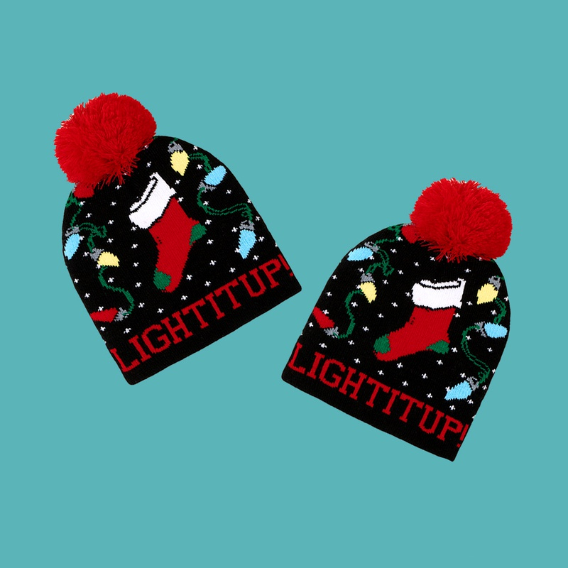 Christmas wool ball knitted hat NHTQ288064