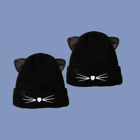 sombrero de punto lindo gato de moda NHTQ288065's discount tags