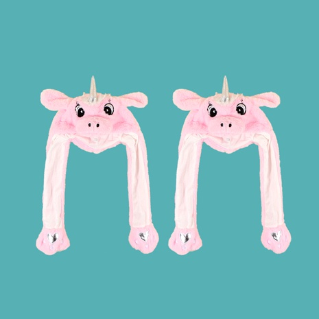 Gorro de peluche unicornio rosa NHTQ288070's discount tags