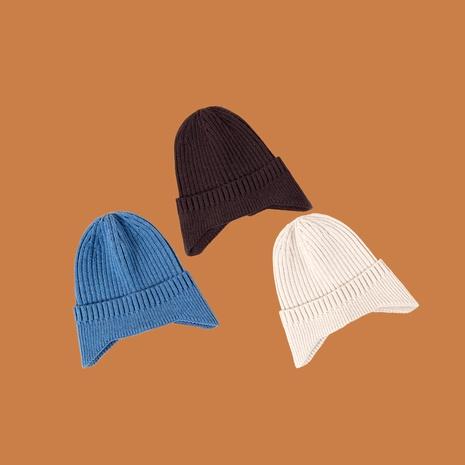 Gorro de lana azul cálido con protección para los oídos NHTQ288077's discount tags