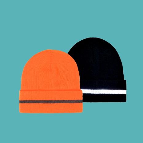 Gorro de punto a rayas naranja fashion NHTQ288086's discount tags