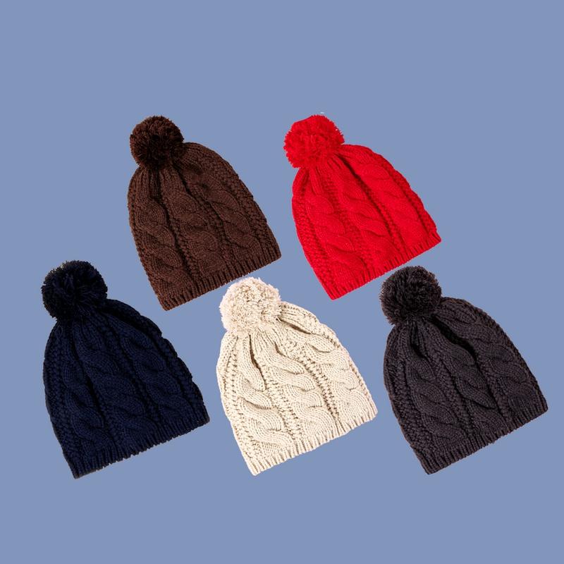 Pure color twist knit hat NHTQ288093