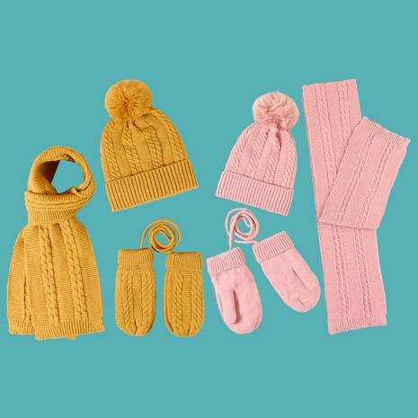 guantes de bufanda de gorro de giro de color puro NHTQ288098's discount tags