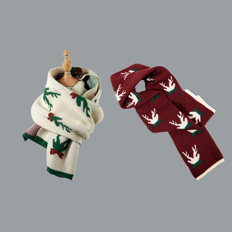 Korean fashion Christmas knitted scarf  NHTQ288101's discount tags