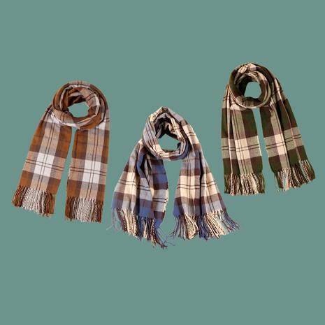 Korean fashion retro plaid scarf NHTQ288105's discount tags